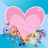 Abstrakt hjärta vektor illustrationer