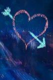 abstrakt hjärta Arkivfoto