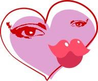abstrakt hjärta stock illustrationer