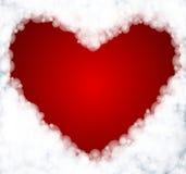 Abstrakt hjärta från moln Royaltyfri Foto