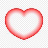 Abstrakt hjärta som isoleras på en genomskinlig bakgrund Designbeståndsdel för festliga händelser royaltyfri illustrationer
