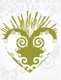 abstrakt hjärta virveer vektorn Royaltyfri Bild