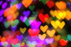 Abstrakt hjärtabakgrund Royaltyfri Foto