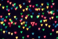 Abstrakt hjärtabokeh royaltyfria bilder