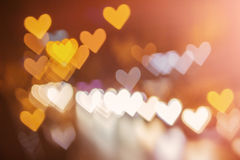 Abstrakt hjärtabokehbakgrund Arkivbild