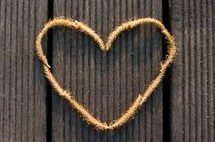 Abstrakt hjärtaform som göras av en manlig blomma för pil Arkivbilder