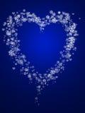 abstrakt hjärtaformsnowflake Royaltyfri Fotografi