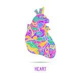 abstrakt hjärtahuman Royaltyfri Fotografi