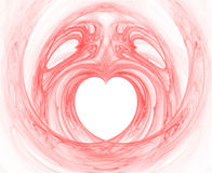 abstrakt hjärtapinkrök Royaltyfria Bilder