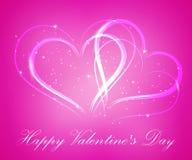 abstrakt hjärtavektor lycklig s valentin för dag Arkivbilder