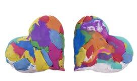 abstrakt hjärtor två Arkivbild
