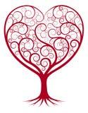 Abstrakt hjärtaträd Arkivbilder