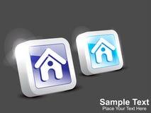 Abstrakt home symbolsknapp Arkivfoton