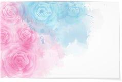 Abstrakt horisontalbakgrund med rosor stock illustrationer