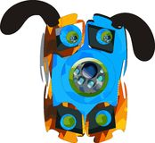 abstrakt hund Arkivbilder