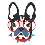 Abstrakt huvud för papercutcollagehund Royaltyfria Foton