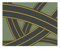 Abstrakt huvudvägväg Stock Illustrationer