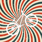 Abstrakt hypnotisk retro bakgrund med cykeln. Royaltyfria Bilder