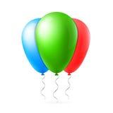 Abstrakt idérik ballong för begreppsvektorflyg med bandet För rengöringsduk- och mobilapplikationer som isoleras på bakgrund, kon Fotografering för Bildbyråer