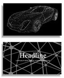 Abstrakt idérik begreppsbakgrund av modellen för bil 3d vektor för bilingreppssportar Polygonal designstilbrevhuvud och broschyr  Royaltyfri Bild