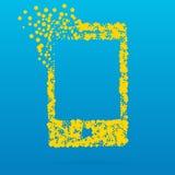 Abstrakt idérik begreppssymbol av den smarta telefonen för rengöringsduk- och mobilapplikationer som isoleras på bakgrund Vektori Royaltyfria Bilder