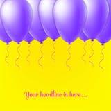 Abstrakt idérik begreppsvektorballong som isoleras på bakgrund för rengöringsduk- och mobilapplikationer, illustrationmall Royaltyfri Fotografi
