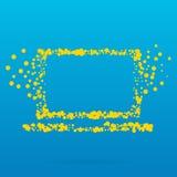 Abstrakt idérik begreppsvektorsymbol av anteckningsboken för rengöringsduk och mobilen app som isoleras på bakgrund Konstillustra Royaltyfri Fotografi