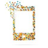 Abstrakt idérik begreppsvektorsymbol av den smarta telefonen för rengöringsduk- och mobilapplikationer som isoleras på bakgrund v Royaltyfri Bild