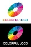 Abstrakt idérik färgrik logo Arkivfoto