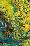 Abstrakt idérik målad bakgrund med akrylmålarfärger fotografering för bildbyråer