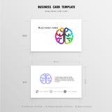 Abstrakt idérik mall för affärskortdesign Royaltyfria Foton