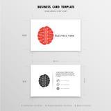 Abstrakt idérik mall för affärskortdesign Fotografering för Bildbyråer