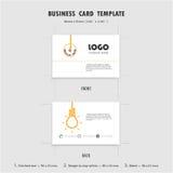Abstrakt idérik mall för affärskortdesign, format 90mmx55mm Arkivfoto