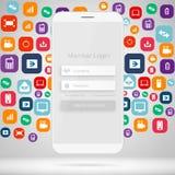 Abstrakt idérik manöverenhet för form för inloggning för begreppsvektormedlem För webbsida plats, mobila applikationer, konstillu Royaltyfria Foton