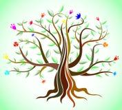 abstrakt idérik tree Arkivfoton