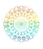 Abstrakt idérik vattenfärgmandala Ljus spets- modell i cirkel vektor illustrationer