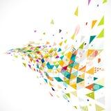 Abstrakt idérikt geometriskt med geometrisk garnering för blandning på perspektivkurvsikt stock illustrationer