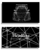 Abstrakt idérik begreppsbakgrund av modellen för bil 3d vektor för bilingreppssportar Polygonal designstilbrevhuvud och broschyr  Royaltyfria Foton