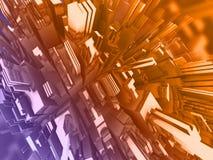 abstrakt illustration 3d stock illustrationer