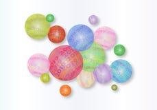 Abstrakt illustration av bollar 2019 arkivfoto