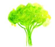 Abstrakt illustration av det stiliserade gröna trädet Arkivbild