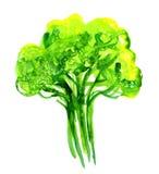 Abstrakt illustration av det stiliserade gröna trädet Arkivbilder