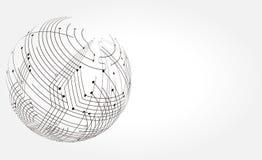 Abstrakt illustration av teknologin Royaltyfria Foton