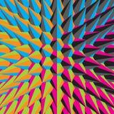 abstrakt illustration 3d kantlagrar låter vara vektorn för oakbandmallen Royaltyfria Foton