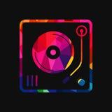 Abstrakt illustration för bakgrund för vinylskivtallrikpolygon Royaltyfria Foton