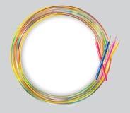 Abstrakt illustration för cirkelramvektor Royaltyfri Foto