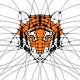 Abstrakt illustration för diagram av en tiger Arkivfoto