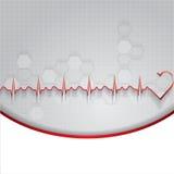 Abstrakt illustration för kardiogram för hjärtatakter Royaltyfria Foton