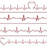 Abstrakt illustration för kardiogram för hjärtatakter Arkivfoton