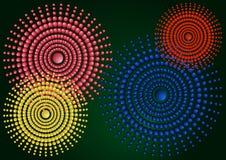 Abstrakt illustration för lutning med cirklar stock illustrationer